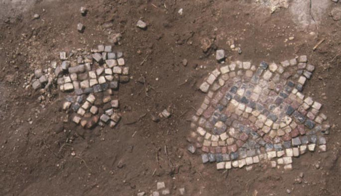 Fragment of mosaic floor